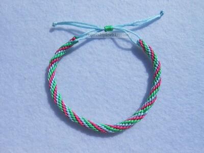 Bracelet Kumihimo Circulaire - Torsadé - 12 fils (2)