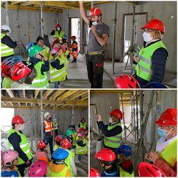les maternelles en visite sur le chantier de la maison Velleda