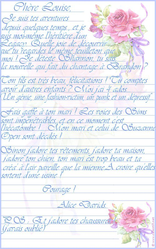 Lettres (Pour Louise, JL et Suzanne)