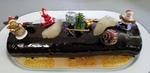 Bûche de Noël poires/chocolat