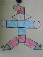 Un robot en formes géométriques.