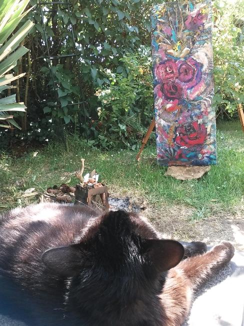 Ma fan au jardin