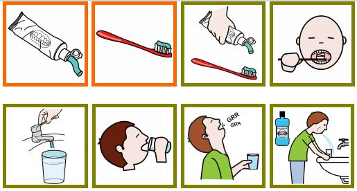 Très Pictogrammes Arasaac : toilette, douche, se brosser les dents  OU17