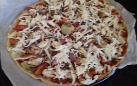 Ma pizza au thon