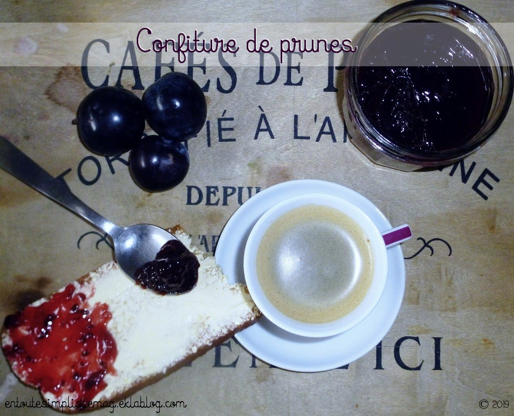 Dessert confiture prune