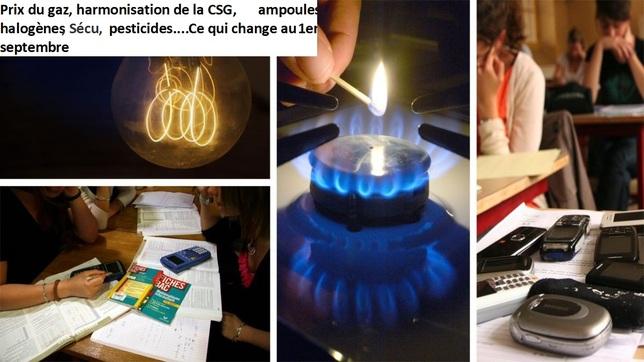 Prix du gaz, harmonisation de la CSG, ampoules halogènes, Sécu, pesticides.... Ce qui change au 1er septembre