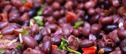 Salade de haricots rouges au chou-fleur