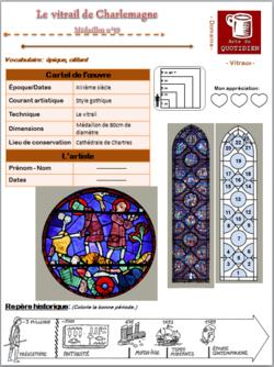 """Carte d'identité du """"vitrail de Charlemagne""""+ Arts visuels"""