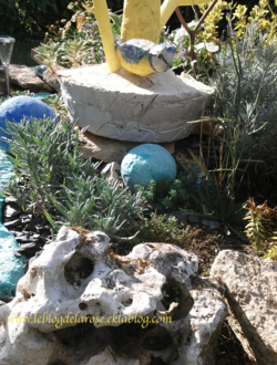 Le jardin de rocaille terminé/Rock garden achieved