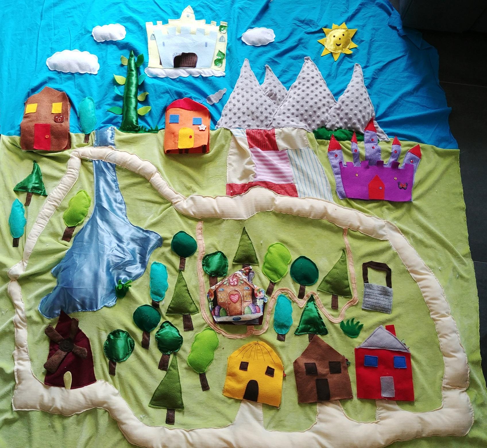 Couture Tapis De Sol Bébé mon tapis à conter : la forêt des contes - la maîtresse au