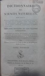 Dictionnaire des sciences naturelles, Cuvier