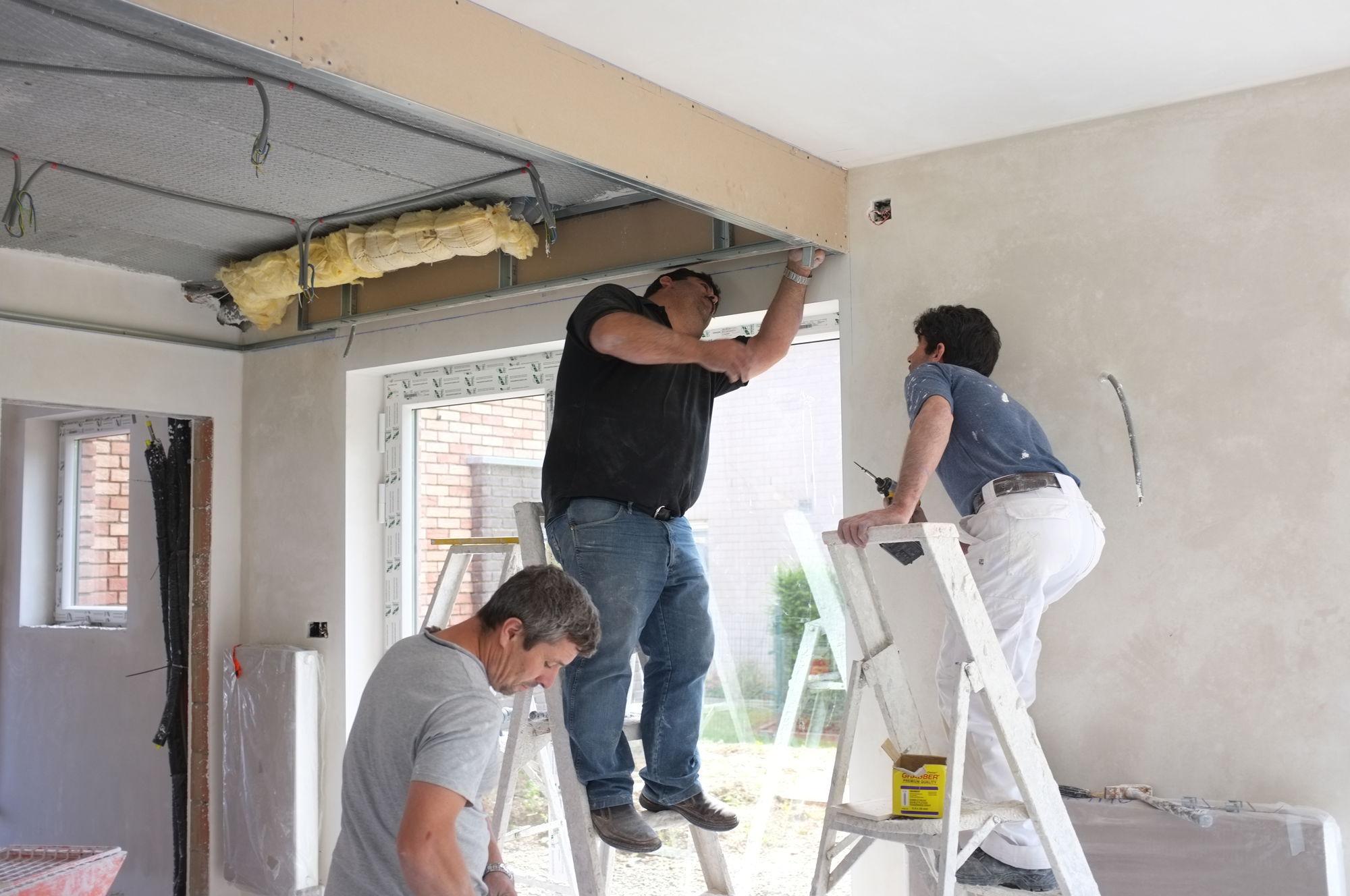 Jour 79 Faux Plafond De La Cuisine Construction D Une Maison