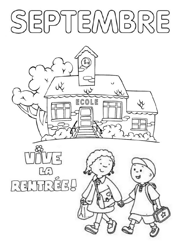 Coloriage Rentree Des Classes Maternelle Dessin Rentrée Maternelle à