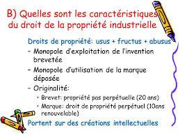 La propriété industrielle droit