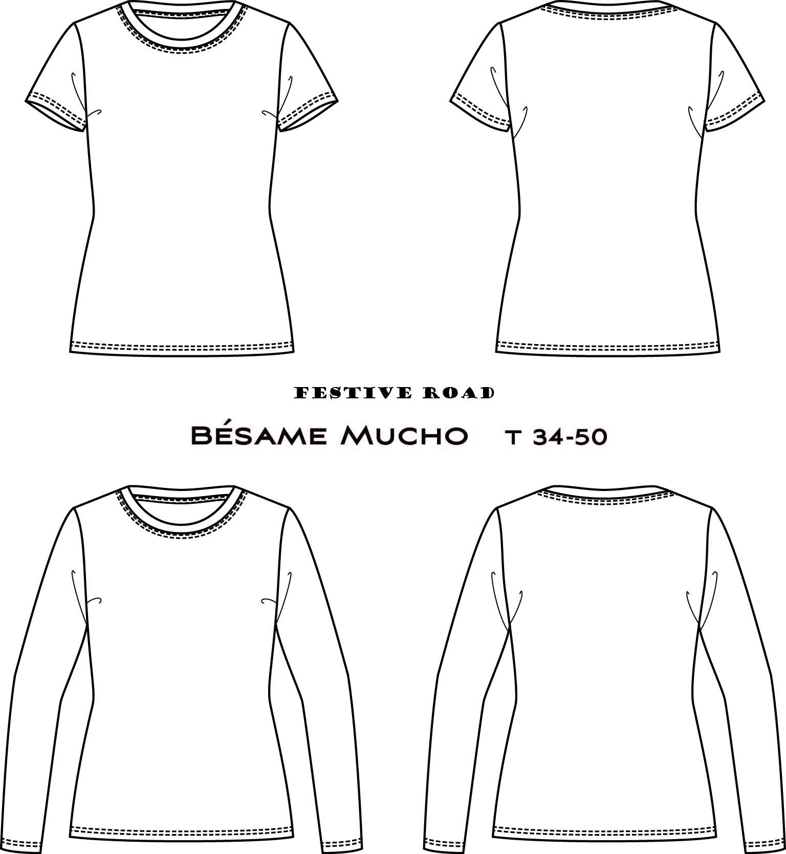 patron gratuit de t-shirt Beasame Mucho