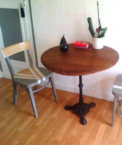 Plateau De Table De Bistro En Chene Massif Atelier Corinne Chatelain
