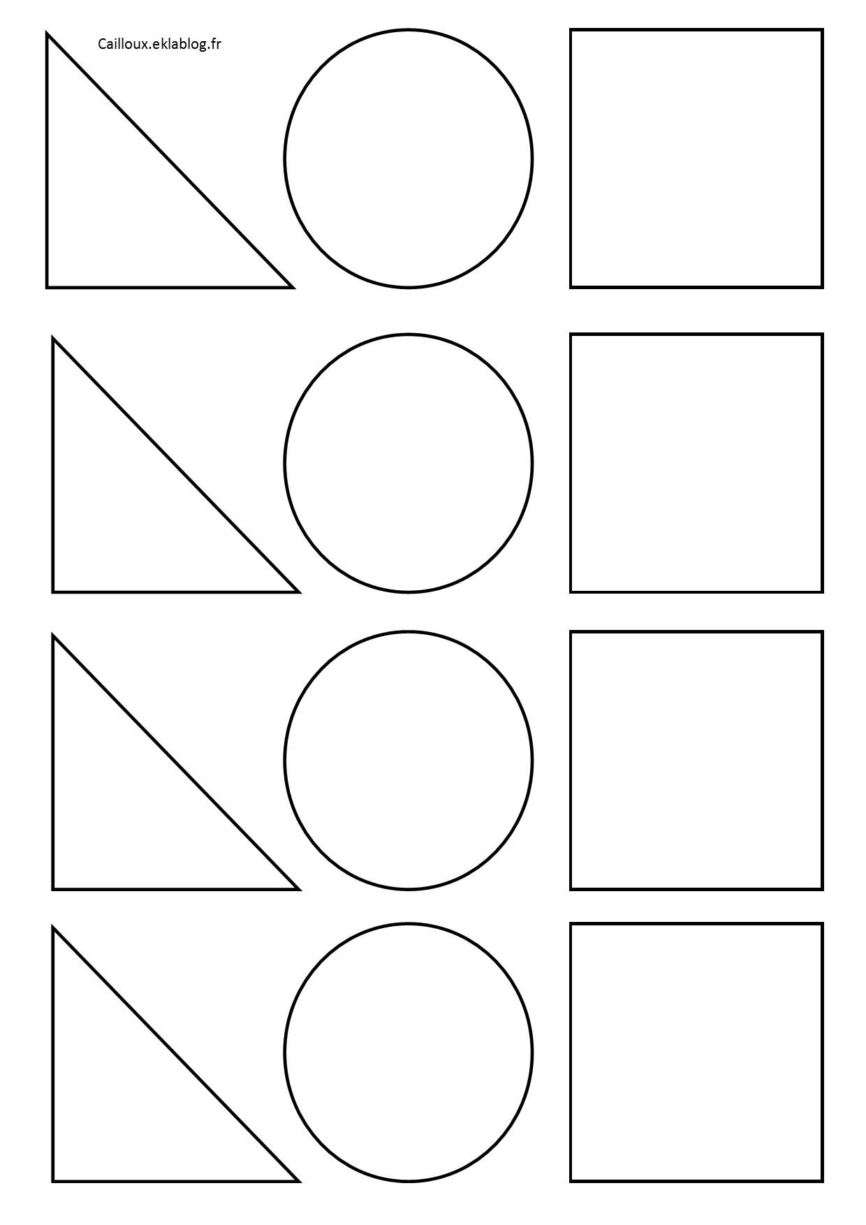 formes geometriques et decoupage a