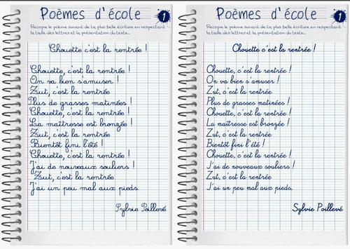 Atelier copie de poèmes