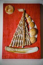 création artistique coquillages
