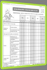 Grille d'évaluation de la tenue des cahiers