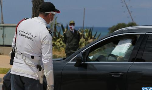 La Gendarmerie Royale veille au respect des mesures sanitaires dans la commune de Harhoura