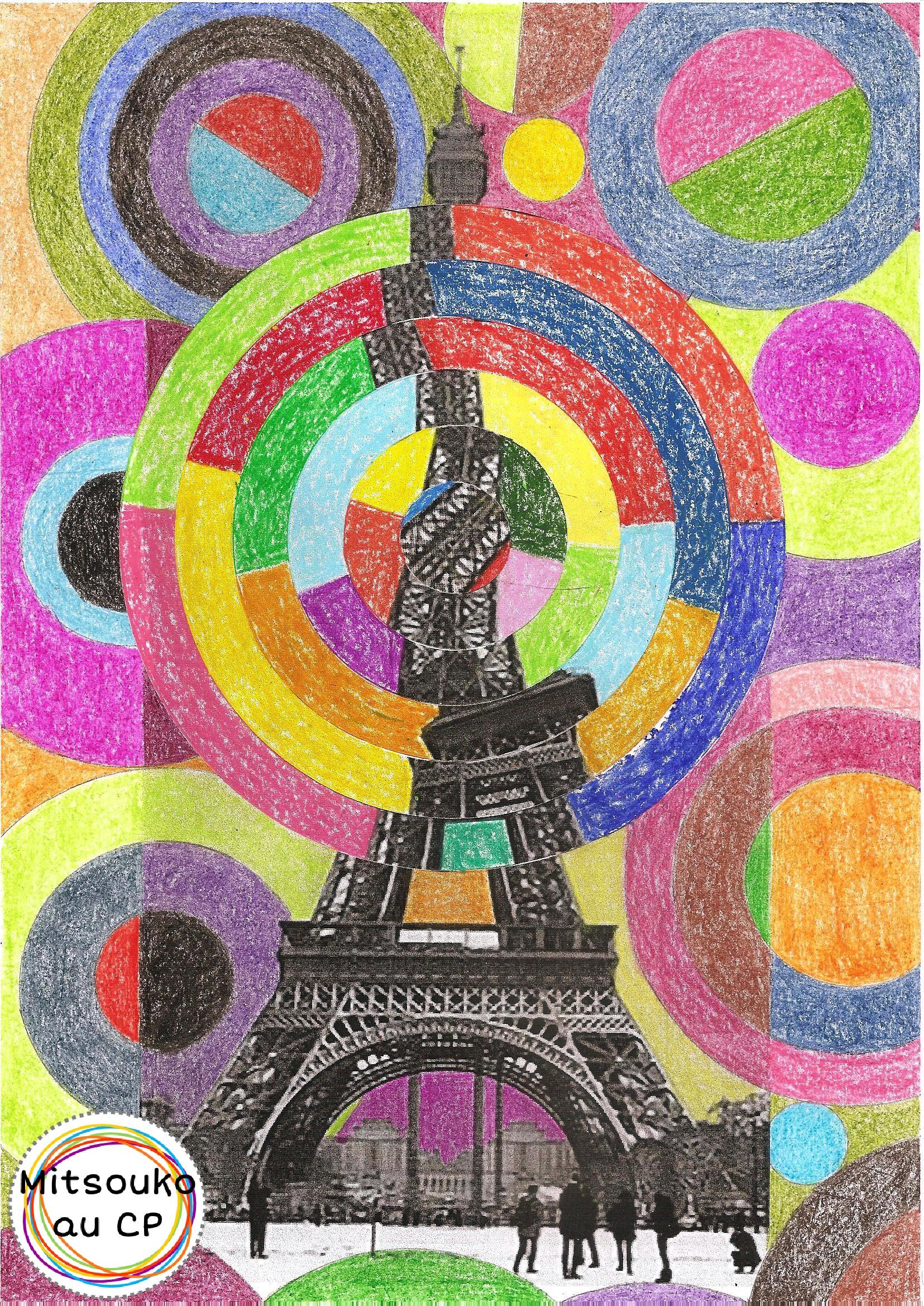 Vertigineuse tour Eiffel de Robert Delaunay - Mitsouko à l'école