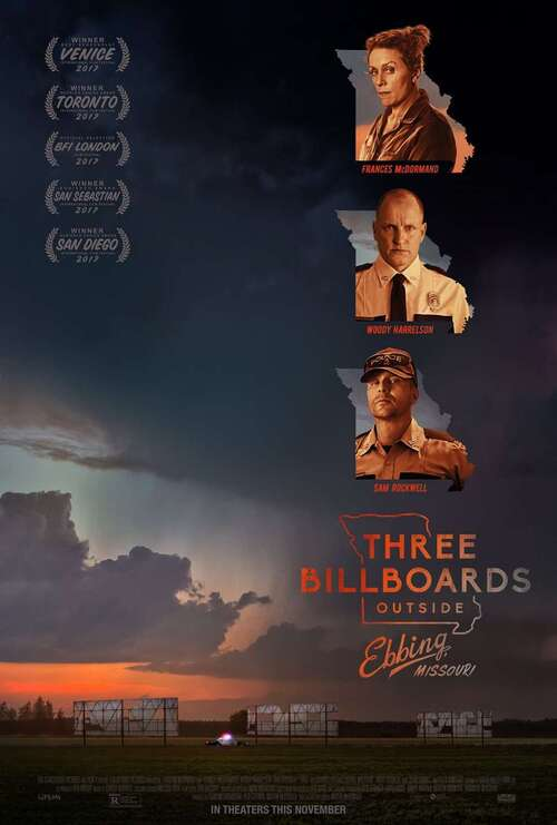 3 Billboards outside Ebbing, Missouri - Martin McDonagh