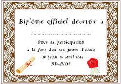 * La fête du 100 ème jour d'école 2014
