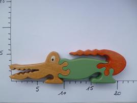 Puzzle Crocodile toy jouet bois wood