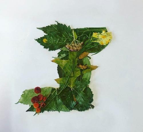 Lettres en fleurs/feuilles