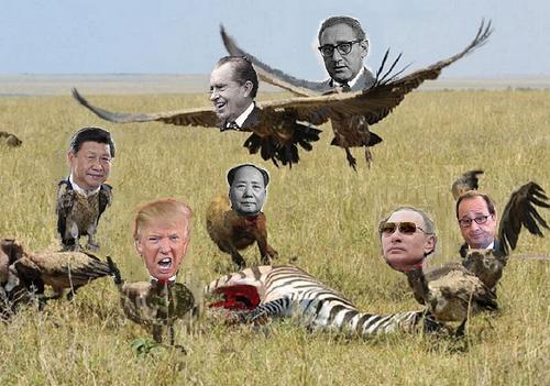 - 1972-2017 : USA Chine Russie... Survol au dessus d'un nid de vautours…