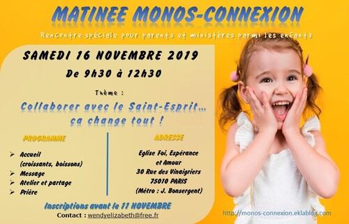 Matinée Monos-Connexion - 16 Novembre 2019