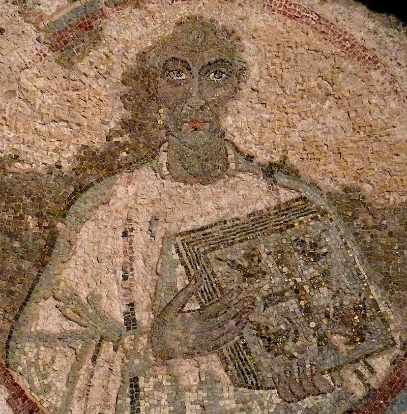 Quodvultdeus mosaic portrait, 5th century (San Gennaro catacombs, Naples).jpg