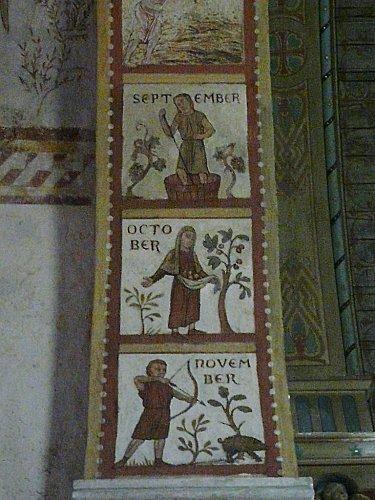 Eglise de Lignières de Touraine - fresque