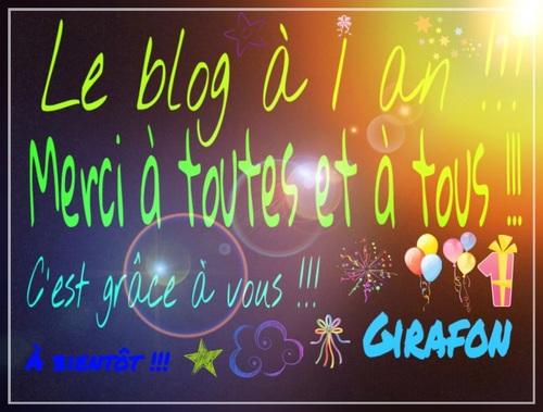 Le blog à 1 an !!!