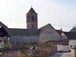 le centre ville à Molsheim