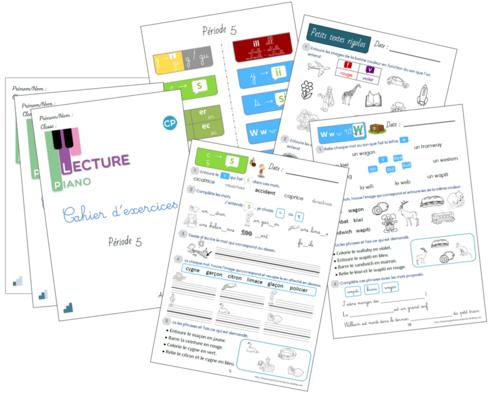 Cahier d'exercices Piano de la P5 version 2020-2021