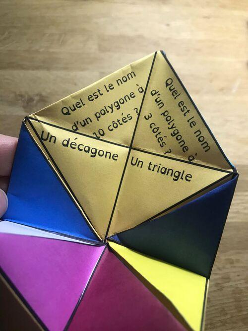 Cocotte sur les polygones