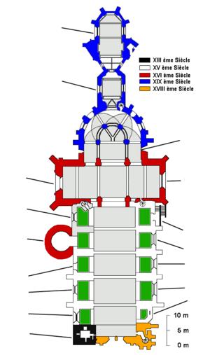 Plan Cathédrale de Vannes sans numérotation.png