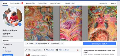 Une nouvelle page facebook