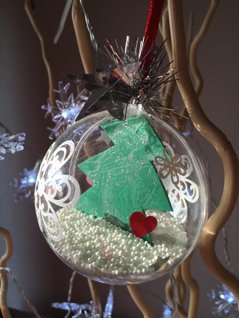 Boule De Noel Transparente A Decorer boule de noël - les pious de chatou (assistante maternelle