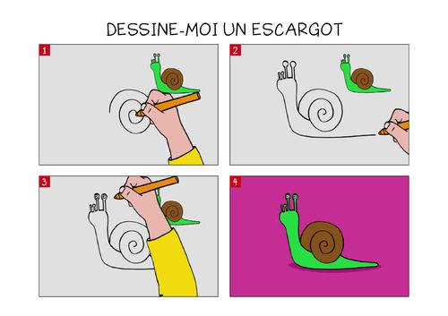 Dessinons les escargots: dessin de Jessica