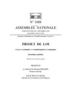 projet de loi PACTE: gouvernance des entreprises