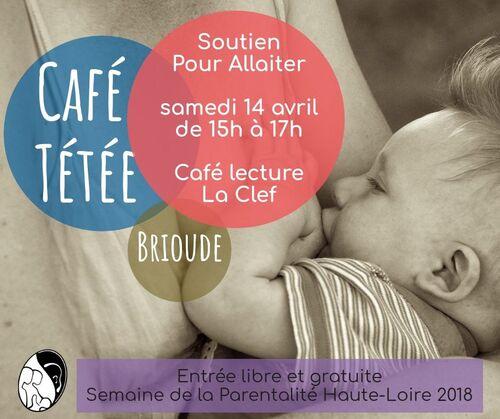 Café tétée spécial Semaine de la Parentalitéle samedi 14 avril à 15h à Brioude