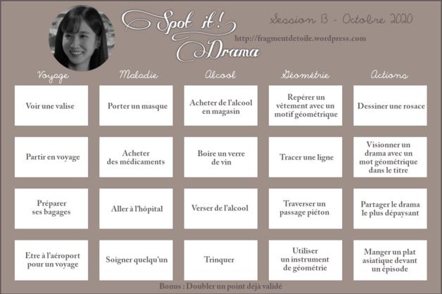 Spot It Drama challenge - octobre 2020