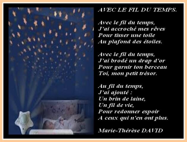 Auteur : Marie-Thérèse DAVID.