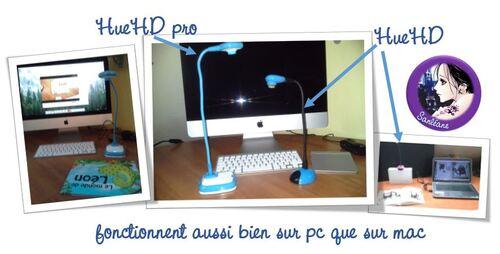 Le visualiseur pro toujours éco caméra USB Hue HD pro pour windows et mac