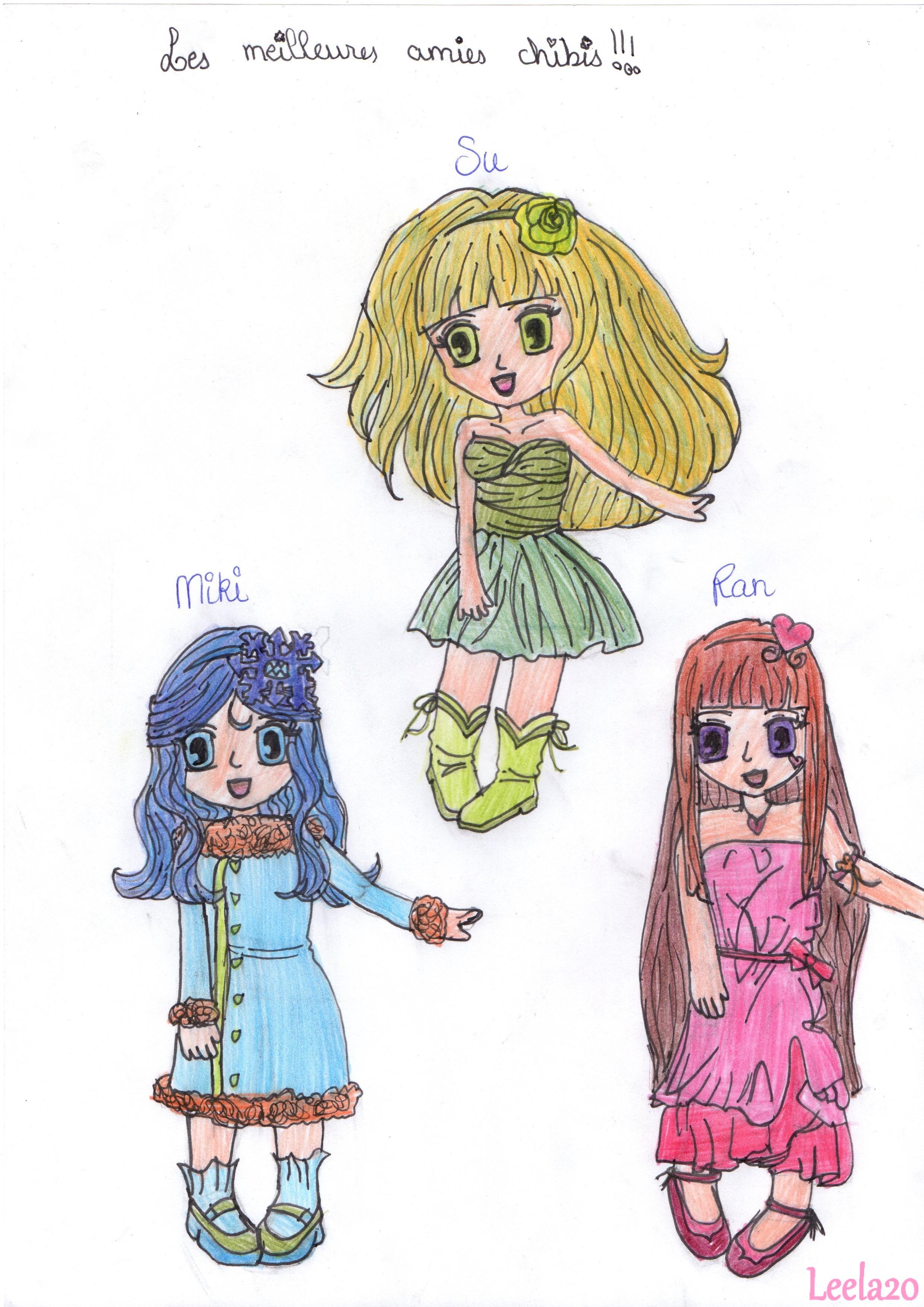 Les Meilleures Amies Chibis Mes Dessins De Style Manga