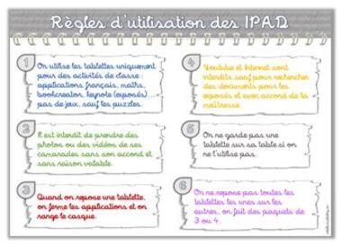 Règles d'utilisation des IPAD