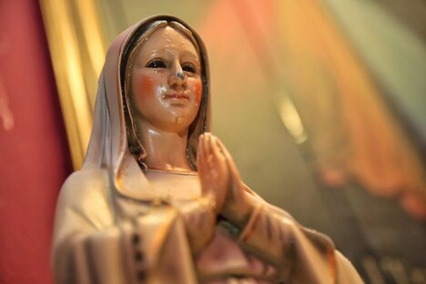 The Virgin Mary statue, which allegedly released oil from her eyes two years ago and now honey since the last three months, is located in a Pandan Indah house. ― Pictures by Saw Siow Feng